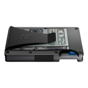The Ridge Aluminium Cash Strap & Money Clip Wallet (Gunmetal) - Money Clip Side View