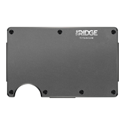 The Ridge Titanium Cash Strap Wallet (Gunmetal) - Front View
