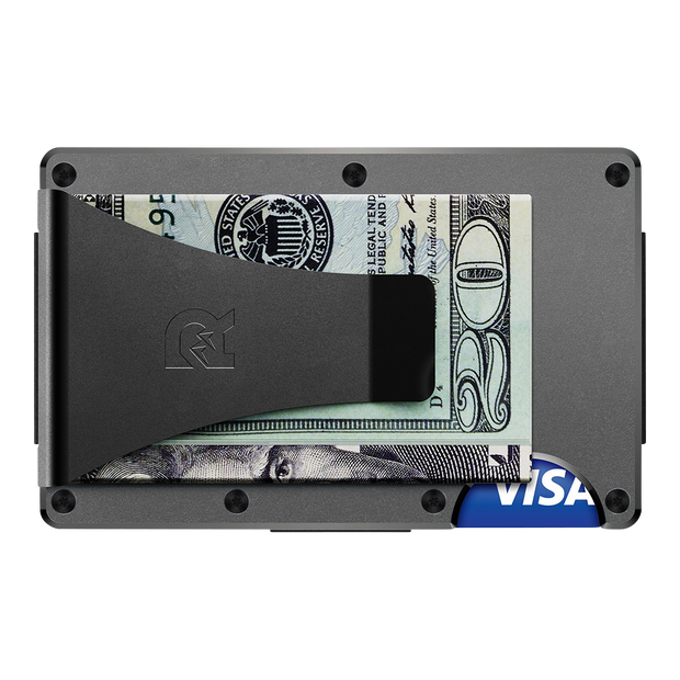 The Ridge Titanium Money Clip Wallet (Gunmetal) - Back View