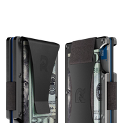 The Ridge Titanium Money Clip Wallet (Gunmetal) - Cash Strap & Money Clip