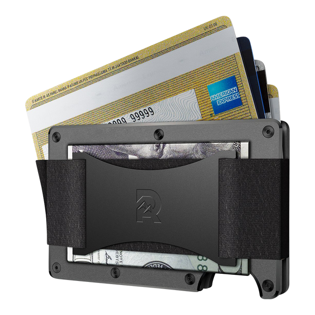 The Ridge Titanium Cash Strap Wallet (Gunmetal) - Cash Strap