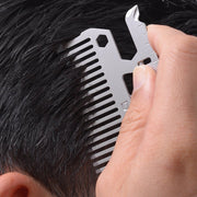 Dango MT03 Money Clip & Comb Multi-Tool - Hair Comb In Use