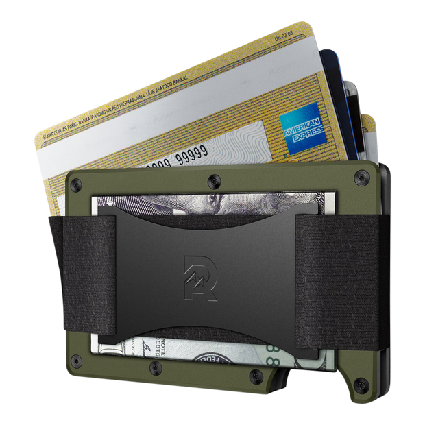 The Ridge Aluminium Cash Strap Wallet (OD Green) - Cash Strap