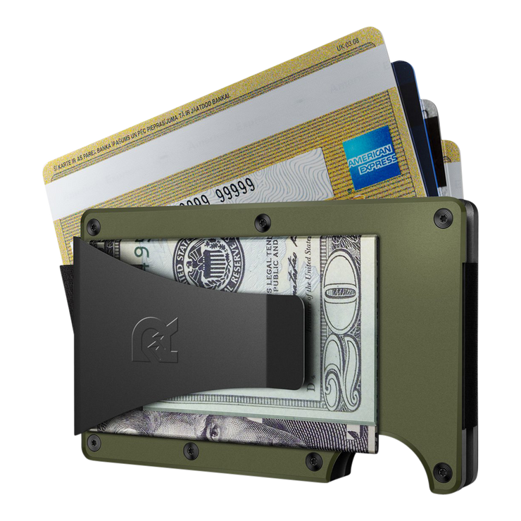 The Ridge Aluminium Money Clip Wallet (OD Green) - Money Clip