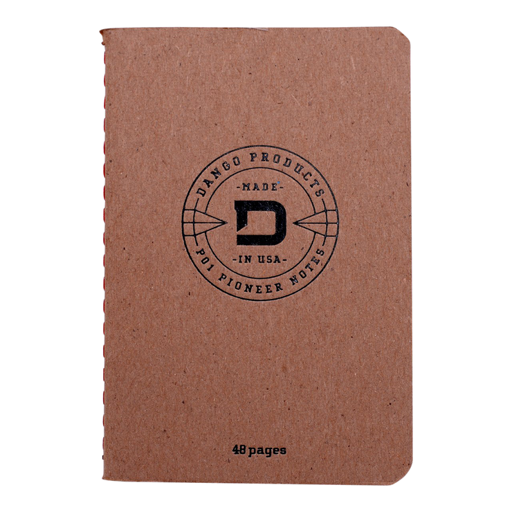 Dango P01 Pioneer Wallet & Dango Pen (Jet Black) - 48 Page Notebook