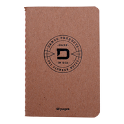 Dango D01 Dapper Pen Wallet (Raw Hide) - 48 Page Notebook