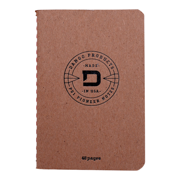 Dango P01 Pioneer Wallet & Dango Pen (Natural Veg Tan) - 48 Page Notebook