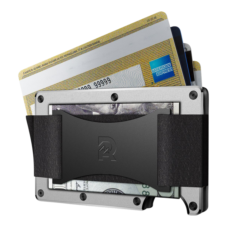 The Ridge Aluminium Cash Strap Wallet (Raw) - Cash Strap