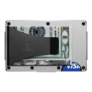 The Ridge Aluminium Money Clip Wallet (Raw) - Back View