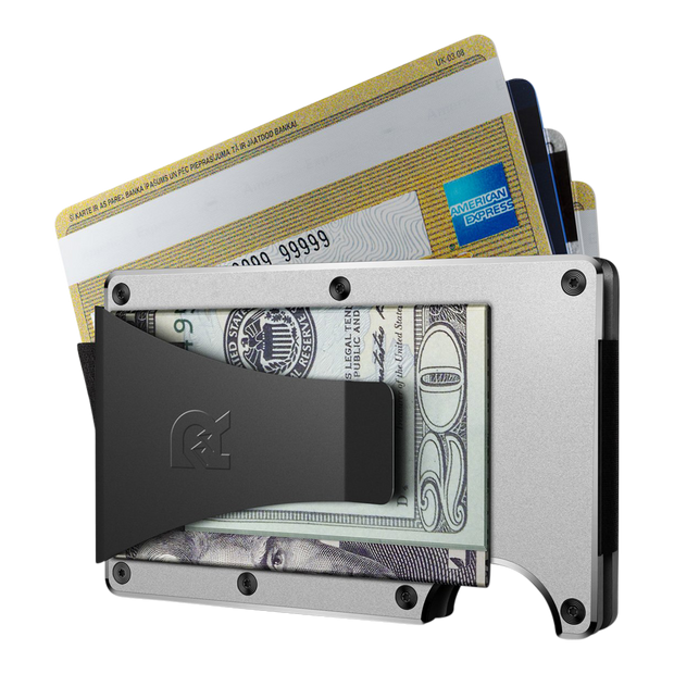 The Ridge Aluminium Money Clip Wallet (Raw) - Money Clip