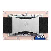 The Ridge Aluminium Cash Strap Wallet (Rose Gold) - Back View
