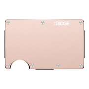 The Ridge Aluminium Money Clip Wallet (Rose Gold) - Front View