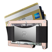 The Ridge Aluminium Cash Strap Wallet (Rose Gold) - Cash Strap