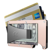 The Ridge Aluminium Money Clip Wallet (Rose Gold) - Money Clip