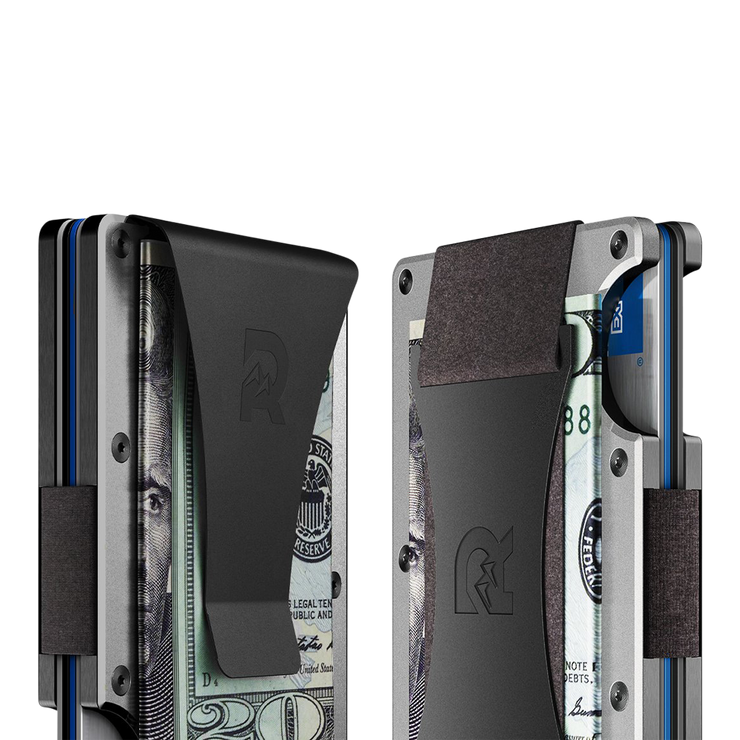 The Ridge Aluminium Cash Strap Wallet (Raw) - Cash Strap & Money Clip