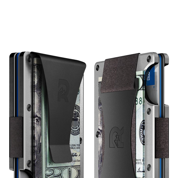 The Ridge Aluminium Money Clip Wallet (Raw) - Cash Strap & Money Clip