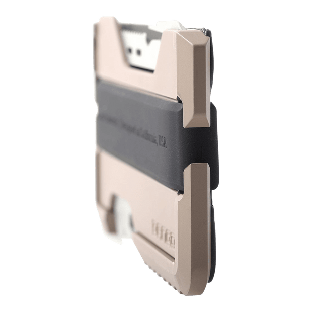 Dango M1 Maverick Single Pocket Spec-Ops Wallet (Desert Sand) - Angled View