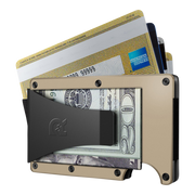 The Ridge Aluminium Money Clip Wallet (Desert Tan) - Money Clip