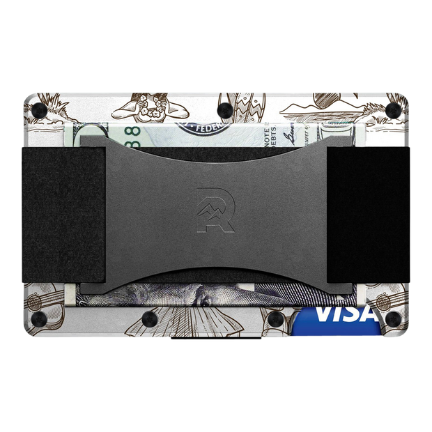 The Ridge Aluminium Cash Strap Wallet (Tiki) - Back View