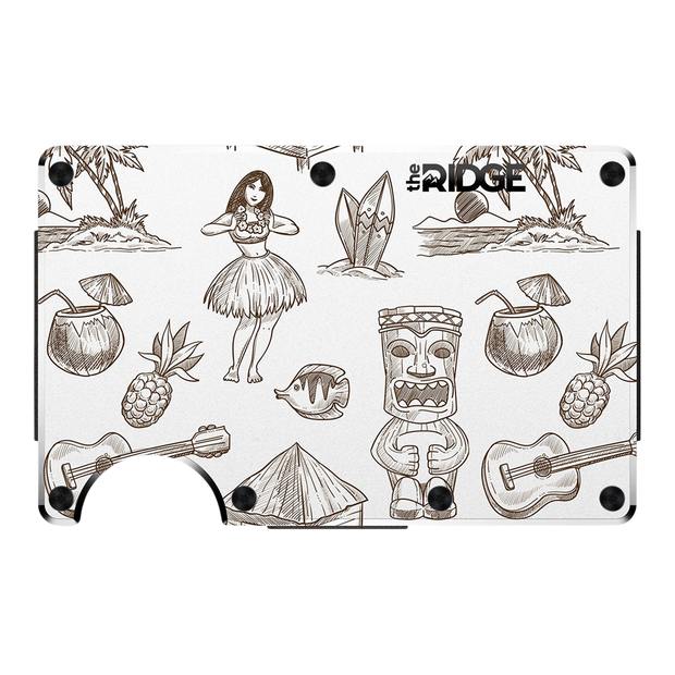 The Ridge Aluminium Money Clip Wallet (Tiki) - Front View