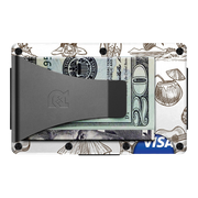 The Ridge Aluminium Money Clip Wallet (Tiki) - Back View