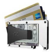 The Ridge Aluminium Money Clip Wallet (White) - Money Clip