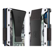 The Ridge Aluminium Money Clip Wallet (White) - Cash Strap & Money Clip