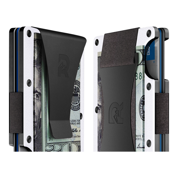 The Ridge Aluminium Cash Strap Wallet (White) - Cash Strap & Money Clip