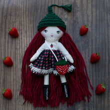 "Load image into Gallery viewer, Strawberry sweetheart outfit - limited edition (10"" & 14"" dolls)"