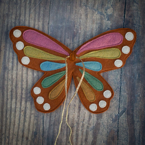 Rainbow butterfly wings (10