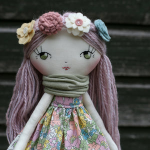 "Felt flower headband (10"" & 14"" dolls)"