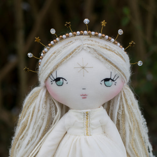 Celestial crown - crystals and stars (original dolls)