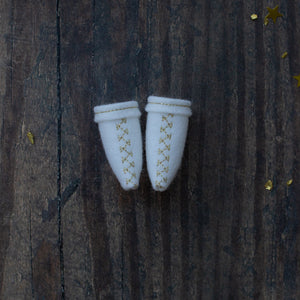 Northern Lights embroidered boots (original and mini dolls)