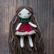 "Load image into Gallery viewer, Tiny Christmas dress (6.5"" dolls)"