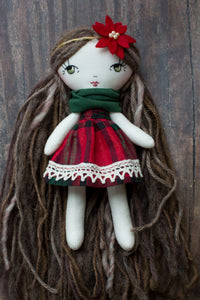"Tiny Christmas dress (6.5"" dolls)"