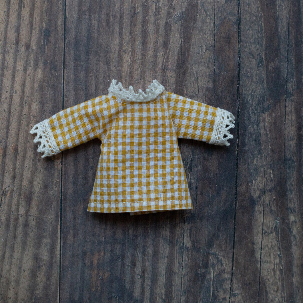 Gingham blouse - mustard (10