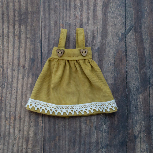 Corduroy pinafore - yellow (10