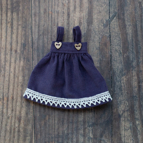 Corduroy pinafore - purple (10