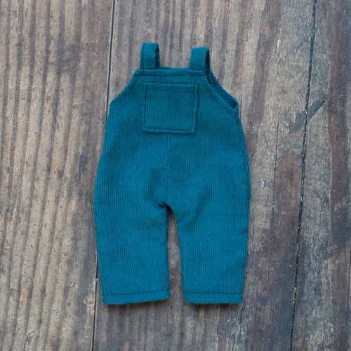 Corduroy dungarees - teal (10