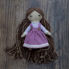 "Load image into Gallery viewer, Gingham blouse - lavender (10"" & 14"" dolls)"