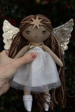 "Load image into Gallery viewer, Angel Christmas star headband (10"" & 14"" dolls)"