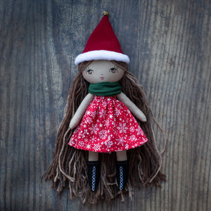 "Christmas snowflake del dress (6.5"", 10"" & 14"" dolls)"