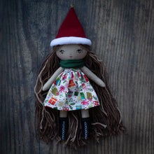 "Load image into Gallery viewer, Christmas gift del dress (6.5"", 10"" & 14"" dolls)"
