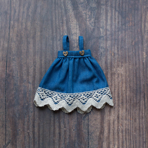 Lace denim pinafore (10