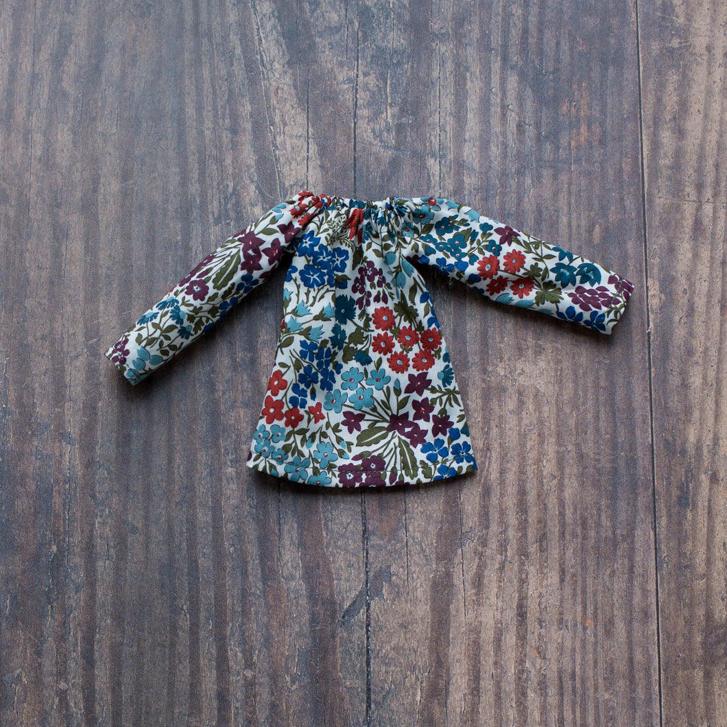 Liberty blouse - dark floral