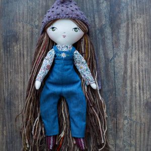 "Denim jumpsuit (10"" & 14"" dolls)"
