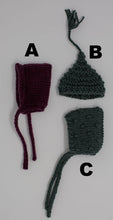 "Load image into Gallery viewer, Tiny knitted hats (6.5"" dolls)"