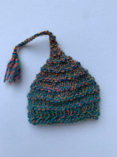 Pointy hat - rainbow 10""