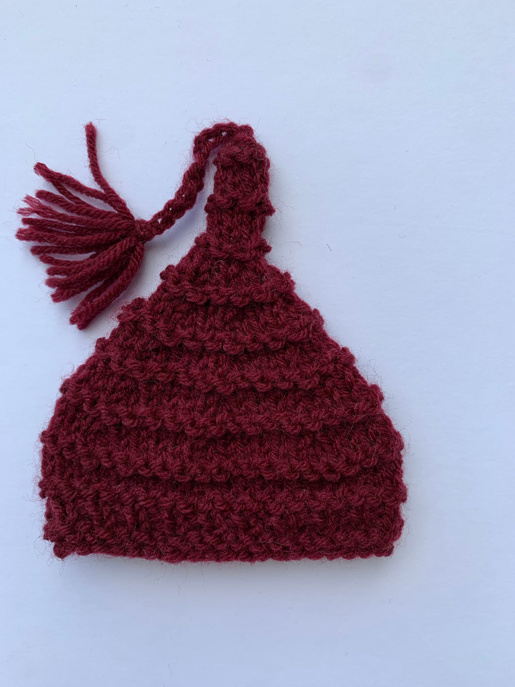 Pointy hat - deep red 10""