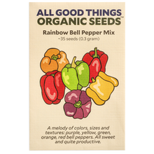 Load image into Gallery viewer, All Good Things Organic Seeds Rainbow Bell Pepper Mix